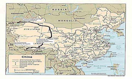 CHINY / brak / brak / Mapa podróży przez Chiny