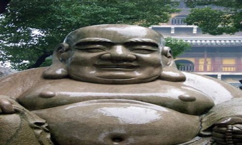 Zdjecie CHINY / Jiangsu / Suzhou / Śmiejący się Budda, Pagoda Pólnocna
