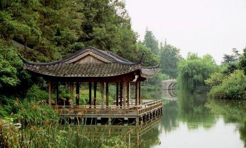 Zdjęcie CHINY / brak / Hangzhou / Trzy Stawy w Których Odbija Się Księżyc