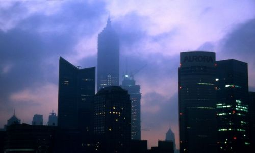Zdjecie CHINY / brak / Shanghai / Pudong bladym świtem