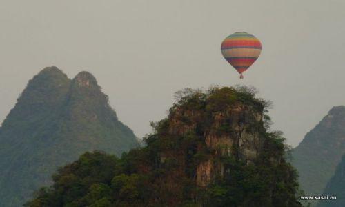 CHINY / brak / Yangshuo / Chiny balon nad Yangshuo