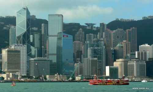 CHINY / brak / Hongkong / Chiny Hongkong widok na las wieżowców