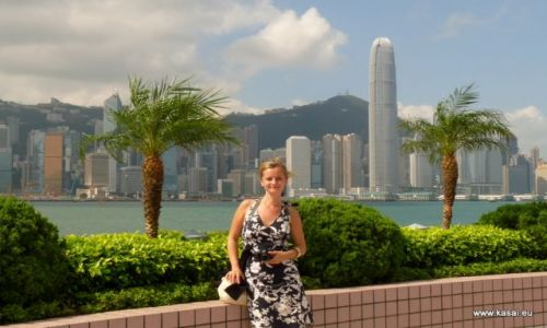 CHINY / brak / Hongkong / Chiny Hongkong widok na las wieżowców z Kowloon