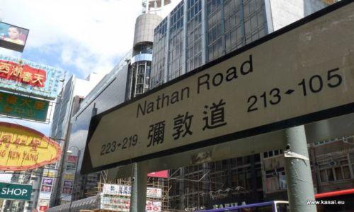 CHINY / brak / Hongkong / Chiny Hongkong s�ynna Nathan Road