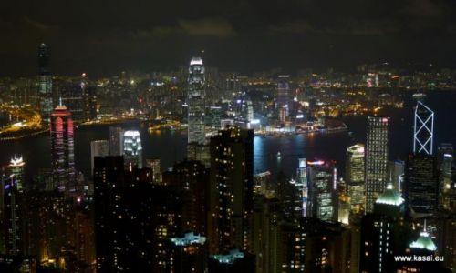 CHINY / brak / Hongkong / Chiny Hongkong widok z Wzgórza Wiktorii