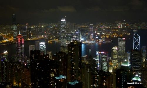 Zdjęcie CHINY / brak / Hongkong / Chiny Hongkong widok z Wzgórza Wiktorii