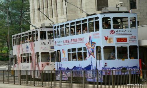 CHINY / brak / Hongkong / Chiny Hongkong zabytkowy tramwaj