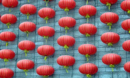 Zdjecie CHINY / Szanghaj / Szanghaj / Lampiony na Wieży Telewizyjnej
