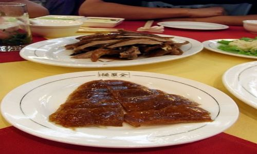 Zdjecie CHINY / Pekin / Restauracja Quanjude / Kaczka po pekińsku