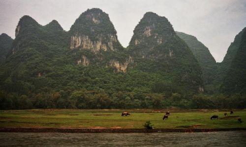 Zdjęcie CHINY / Guangxi / rzeka Li / Spływ Guilin - Jangshuo