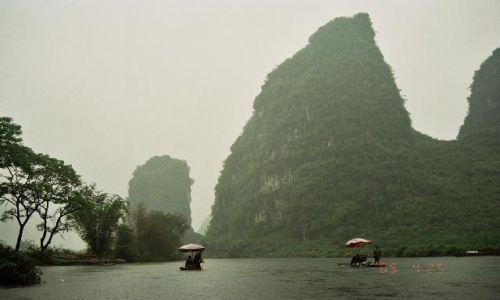 Zdjęcie CHINY / Guangxi / rzeka Yulong / spływ