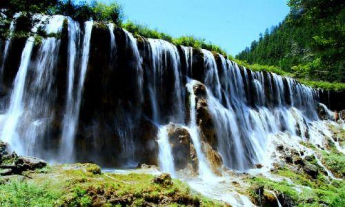 Zdjecie CHINY / Sichuan / Jiuzhaigou / pearl shoal waterfall