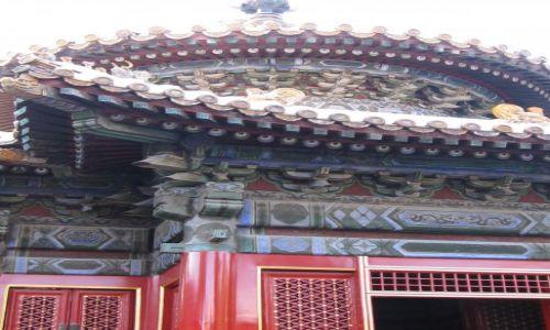 Zdjecie CHINY / Pekin / zakazane miasto / dachy zakazanego miasta