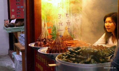 CHINY / - / Qibao / Kulinarnie - uliczny barek