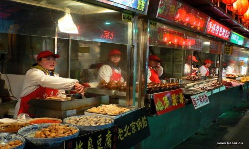 CHINY / - / Pekin / Kulinarnie - nocny bazar