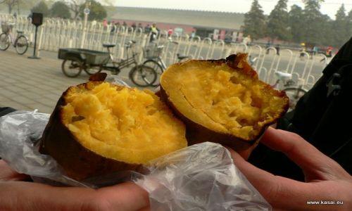 CHINY / - / Pekin / Kulinarnie - słodkie ziemniaki?