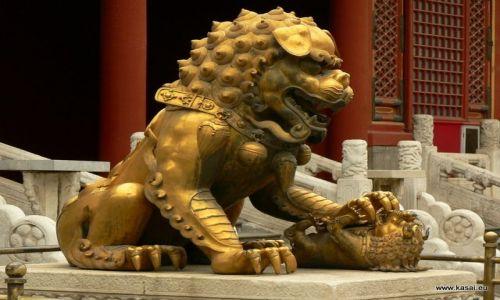 CHINY / - / Zakazane Miasto / Pekin - cesarski lew