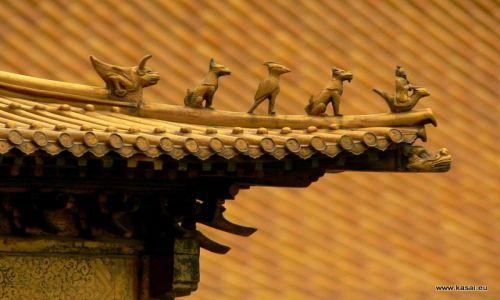 CHINY / - / Zakazane Miasto / Pekin - ozdoby dachu