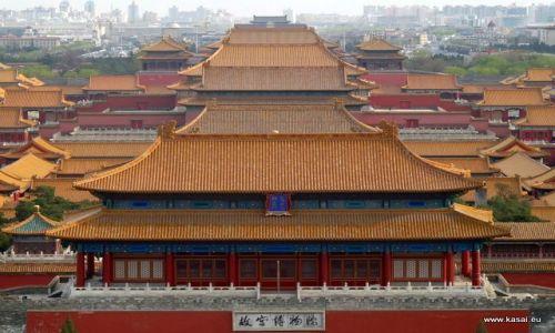 CHINY / - / Widok z Wzgórza Węglowego / Pekin - Zakazane Miasto