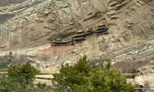 CHINY / - / okolice Datongu / Wisząca Świątynia (Xuankong Si)