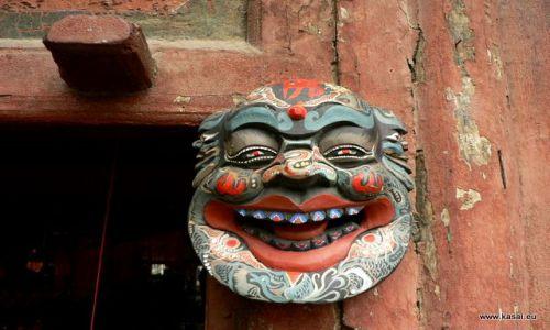 CHINY / - / okolice Datongu / Wisząca Świątynia - maszkaron ;)
