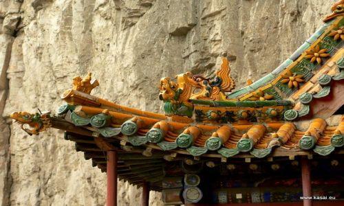 CHINY / - / okolice Datongu / Wisząca Świątynia - dach