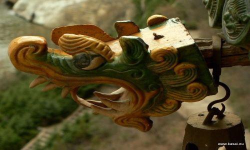 CHINY / - / okolice Datongu / Wisząca Świątynia - smok