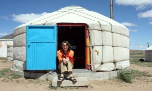 Zdjecie CHINY / Mongolia Wewnętrzna / Stepy Xilamuren / Mongolska jurta
