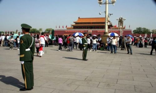 CHINY / - / PEKIN / Plac Tiananmen - cały czas pod obserwacją