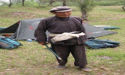 Zdjęcie CHINY / NE Chiny / Sungari / odwiedziny pasterza bydla