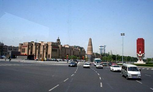 Zdjecie CHINY / - / PEKIN / Pekin z autokaru #2