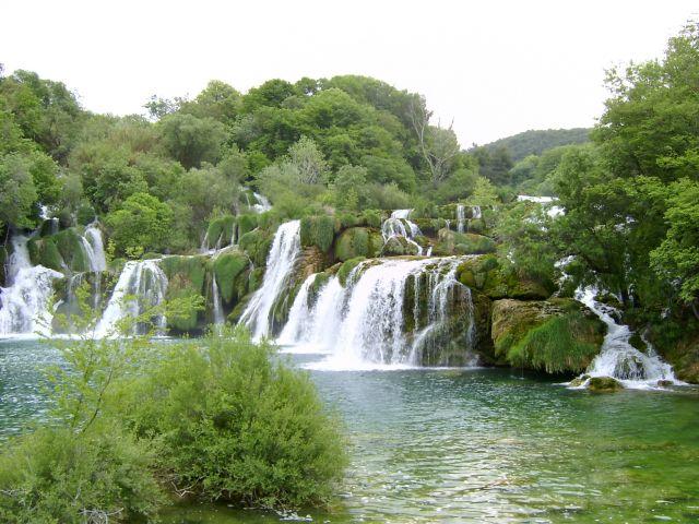 Zdjęcia: Krka, Dalmacja, Wodospady w Krka, CHORWACJA