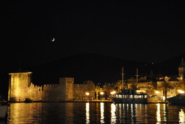"""Zdjęcia: Trogir, Dalmacja, Konkurs """"Miasto Nocą"""", CHORWACJA"""