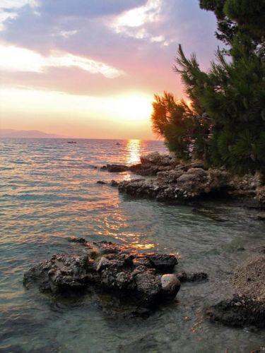 Zdjęcia: Makarska, zachód słońca, CHORWACJA