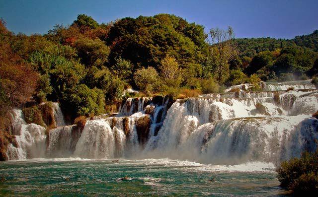 Zdjęcia: Park Narodowy Krka (chor. Nacionalni Park Krka) - park narodowy w Chorwacji, położony w śr, Południowa Dalmacja, wodospad, CHORWACJA