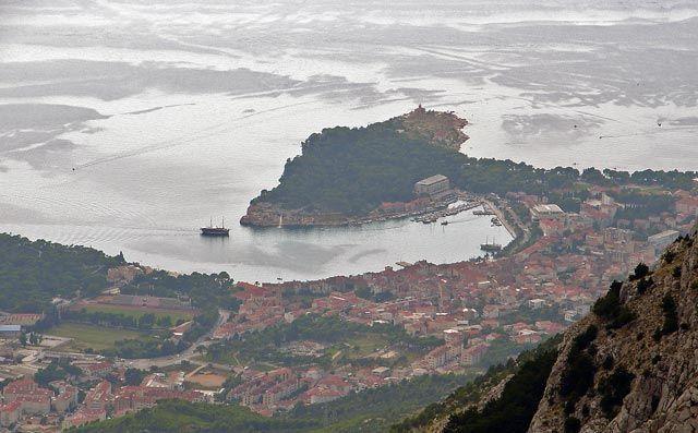 Zdj�cia: widok z Biokowa na Makarsk�, Dalmacja, widok na Makarsk�, CHORWACJA