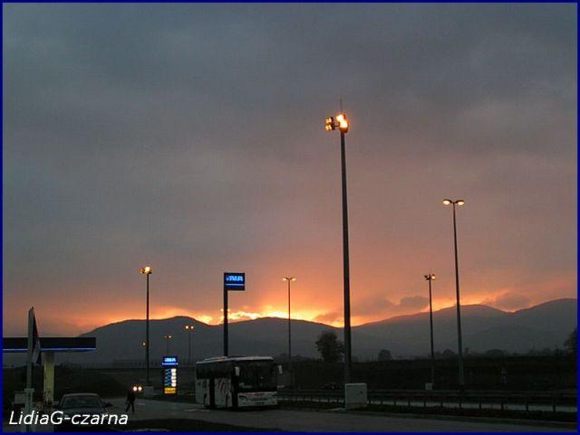 Zdjęcia: CHORWACJA 07.10.2007r., Zachód w górach, CHORWACJA