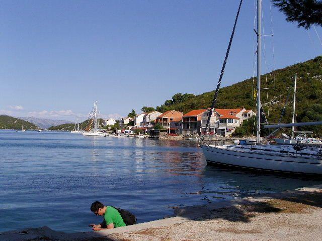 Zdjęcia: Wyspa Mljet, Dalmacja, Port w Polace, CHORWACJA
