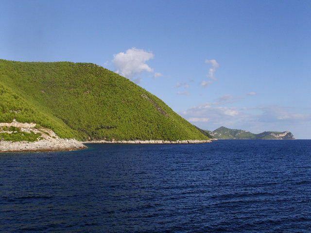 Zdj�cia: Wyspa Mljet, Dalmacja, G�ra i woda, CHORWACJA