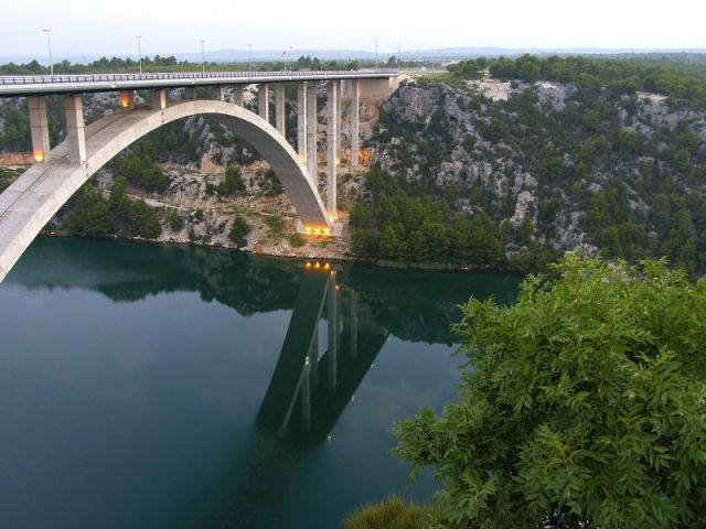 Zdjęcia: most na autostradzie, Dalmacja, droga, CHORWACJA