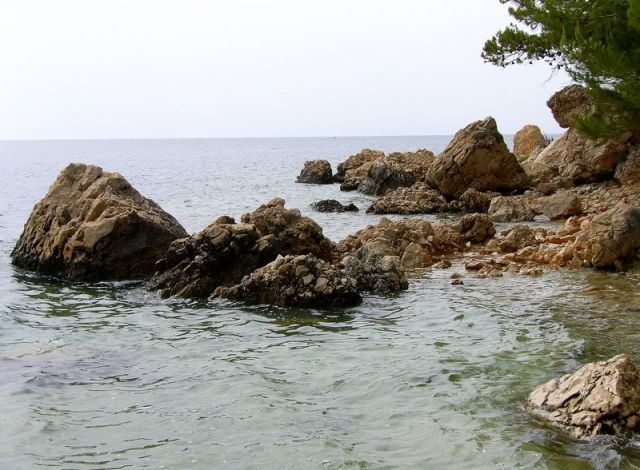 Zdj�cia: na po�udnie od Zivogosce, Dalmacja, na brzegu..., CHORWACJA