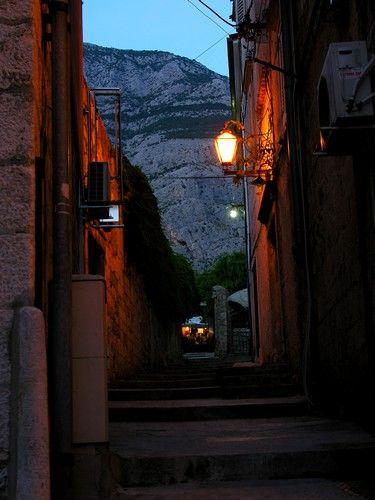 Zdj�cia: Makarska, Dalmacja, Wieczorem..., CHORWACJA