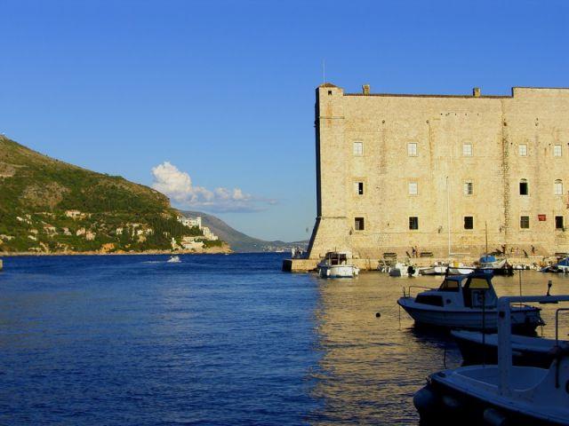 Zdjęcia: Dubrownik, Dalmacja, zatoka portowa, CHORWACJA