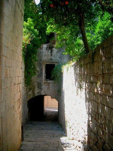 Zdj�cia: Korcula, Dalmacja, w mie�cie, CHORWACJA