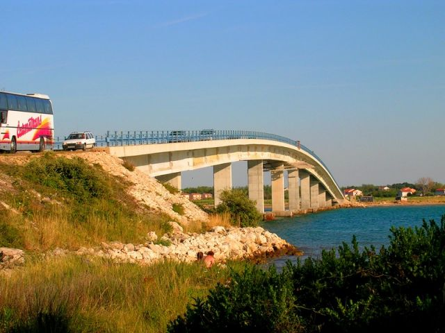 Zdjęcia: Vir, Dalmacja, most, CHORWACJA