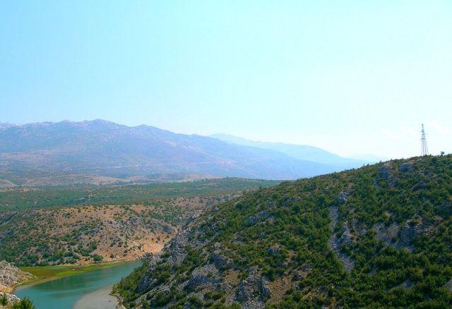 Zdjęcia: dolina Zrmanje, Dalmacja, rzeka, CHORWACJA