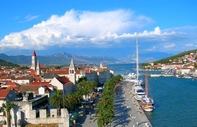 Zdjęcia: Trogir, Dalmacja, widoczek, CHORWACJA