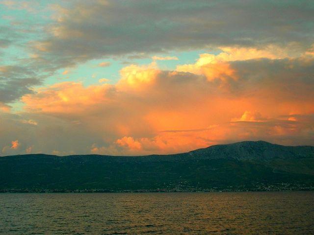Zdjęcia: Slatine, Dalmacja, zmierzch, CHORWACJA