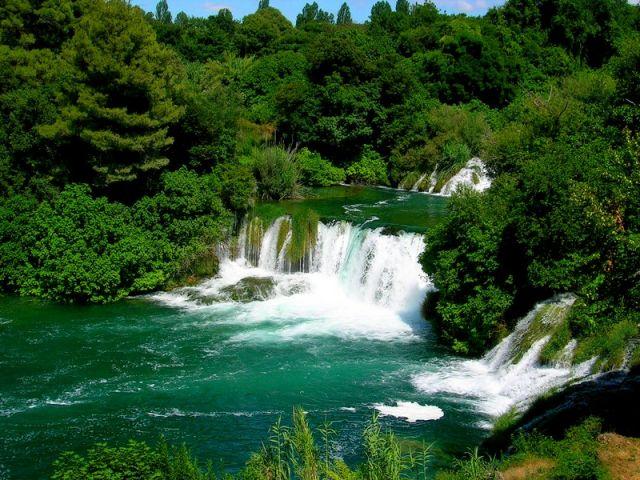 Zdj�cia: park Krka, Dalmacja, woda, CHORWACJA