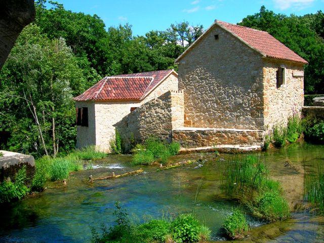Zdj�cia: park Krka, Dalmacja, m�yn, CHORWACJA